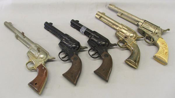 5 Vintage BB Guns and Model Cowboy Pistols