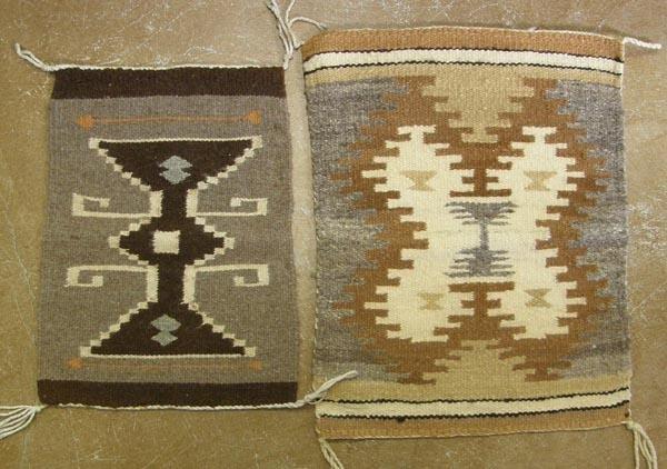 2 Navajo Homespun Sampler Weavings