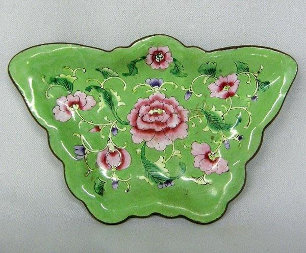 Chinese Enamel Butterfly Ring Tray