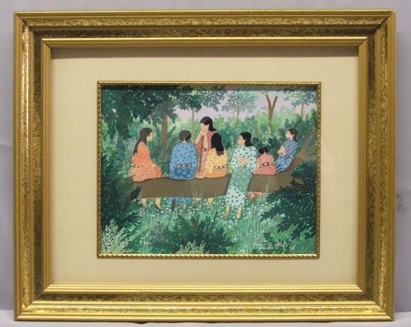 Original Gouche Painting By Virginia Stroud