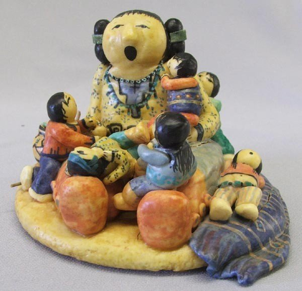 Composition Storyteller Doll by Vicky de Taos