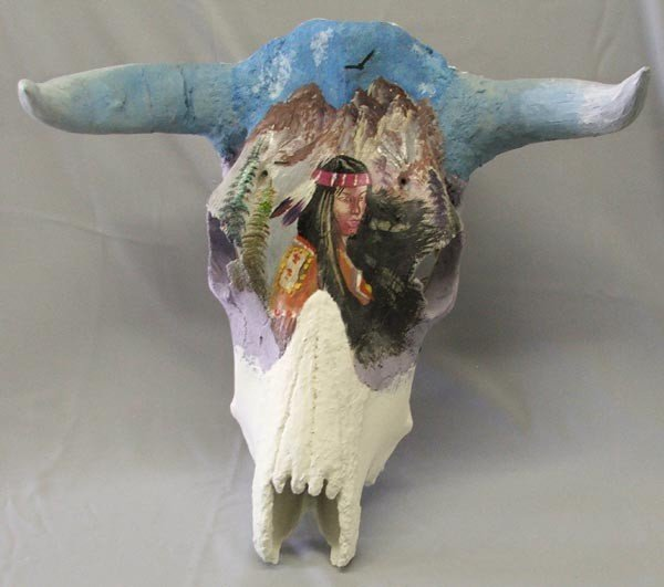 Handpainted Cow Skull