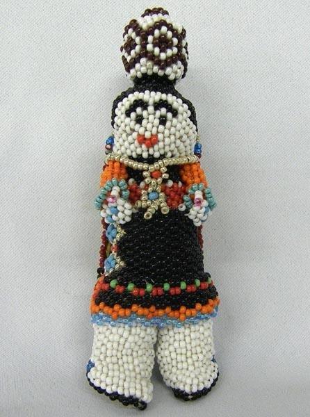 Zuni Hand Beaded Maiden Doll By Benita Tsipa