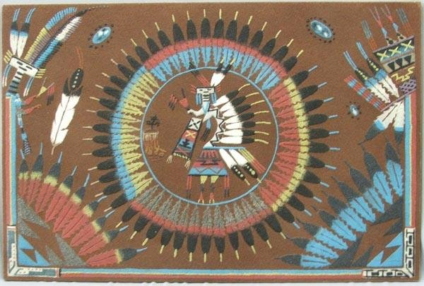 Navajo Sand Painting by Lewis Benally