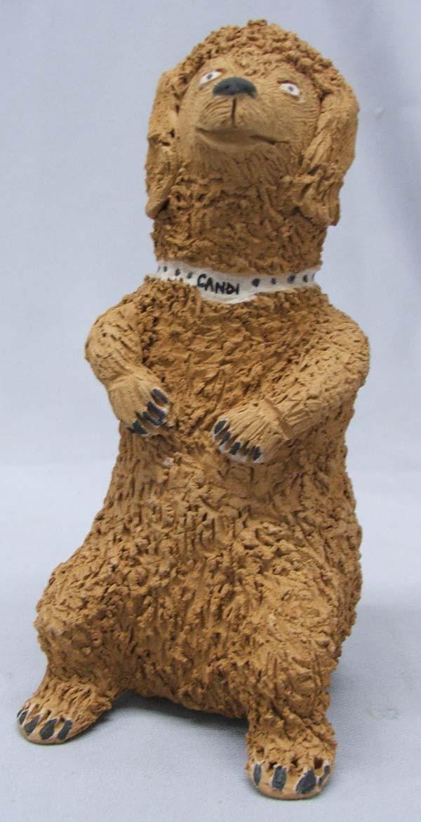Santa Clara Pottery Dog