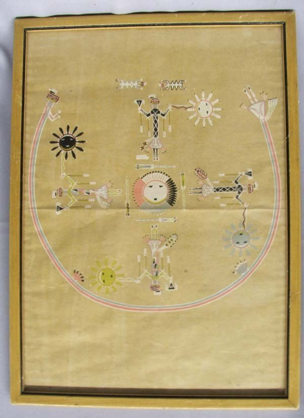 Navajo Sandpainting Print Chart by Newcomb