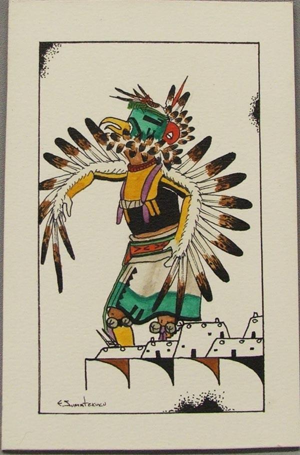 Original Hopi Painting By Jumatewa