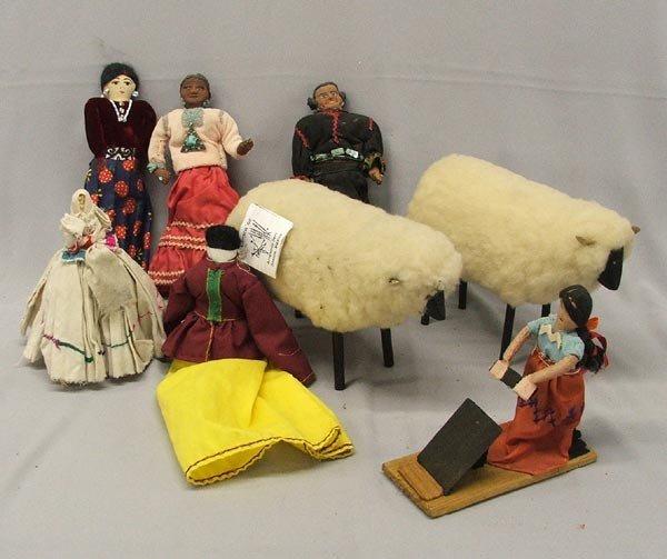 7 Native American & Mexican Dolls and Folk Art