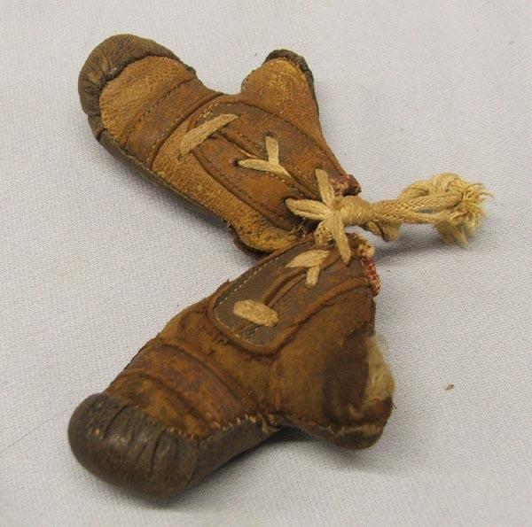 Vintage Salesman Sample Leather Boxing Gloves