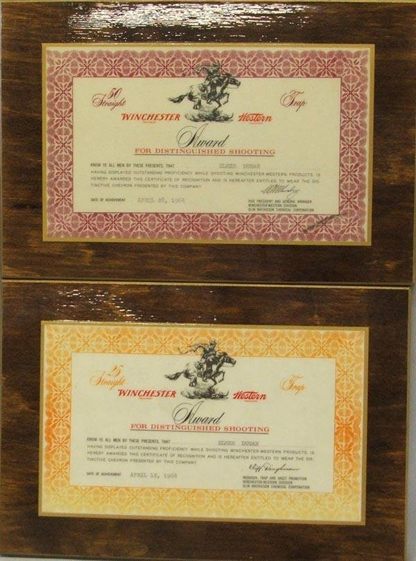 2 1960's Winchester Shooting Award Plaques