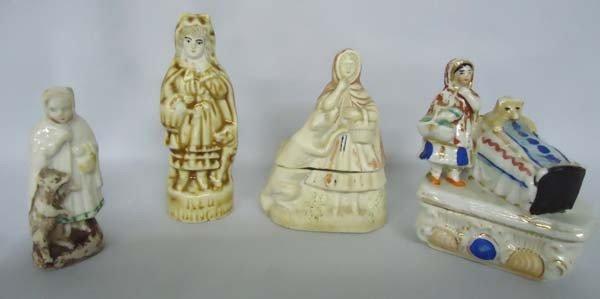 4 Antique Little Red Riding Hood Porcelains