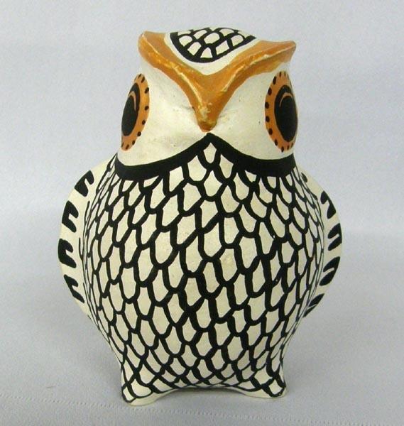 Acoma Pottery Owl Hallmarked LV