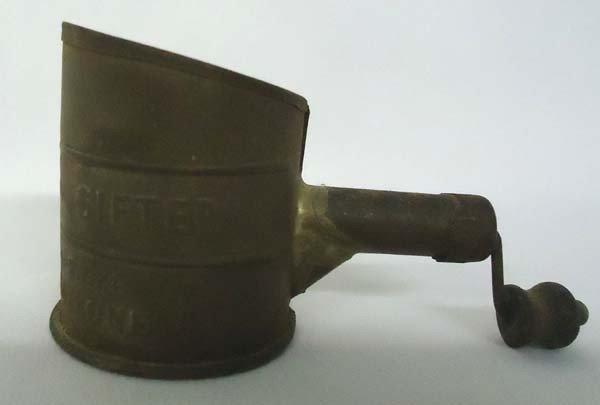 Antique Hunters Metal Salesman Sample Sifter