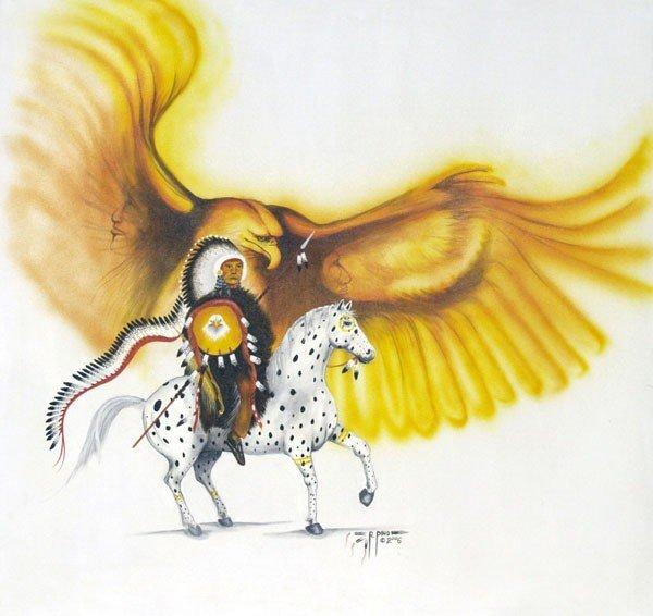 Original Navajo Painting by artist Roger Pino