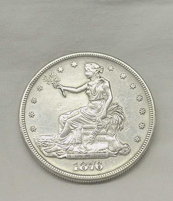 1876 S Silver Trade Dollar XF