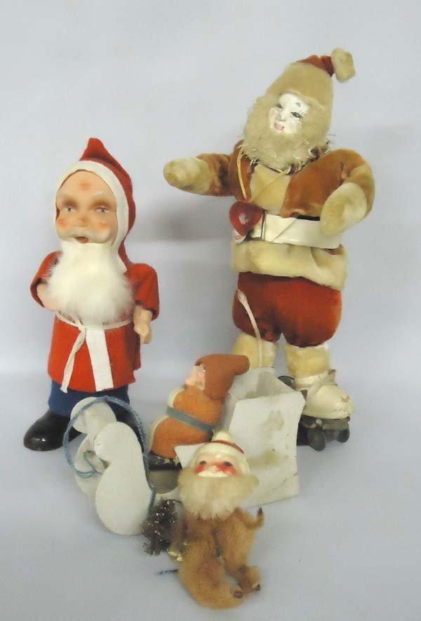 4 Antique Santa Claus Collectibles