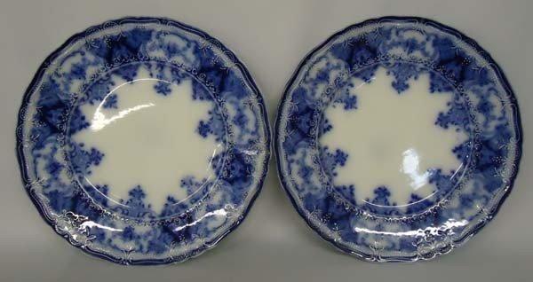 Pr Antique Holland Flow Blue Plates