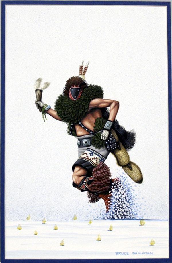 Original Navajo Painting by Bruce Watchman