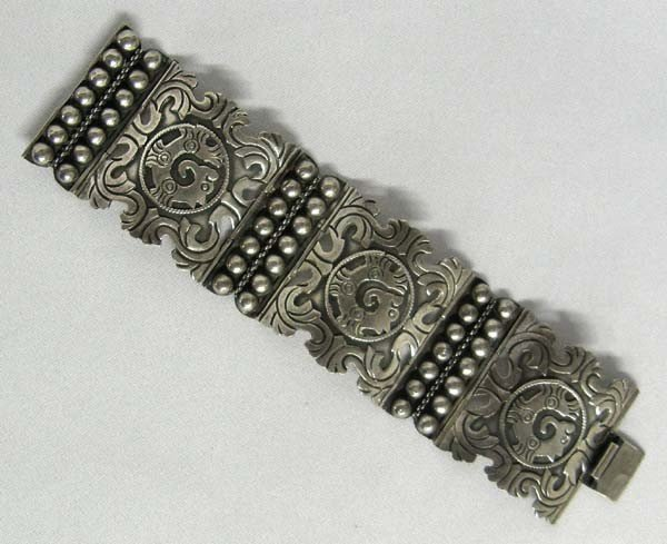 Taxco Mexican Silver Link Bracelet