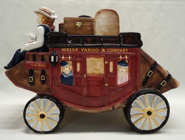 2002 Wells Fargo & Company Stagecoach Cookie Jar