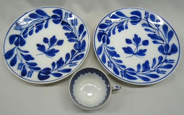 Antique Holland Petrus Regout&Co Flow Blue Plates
