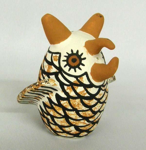 Zuni Pottery Owl by R. Booqua
