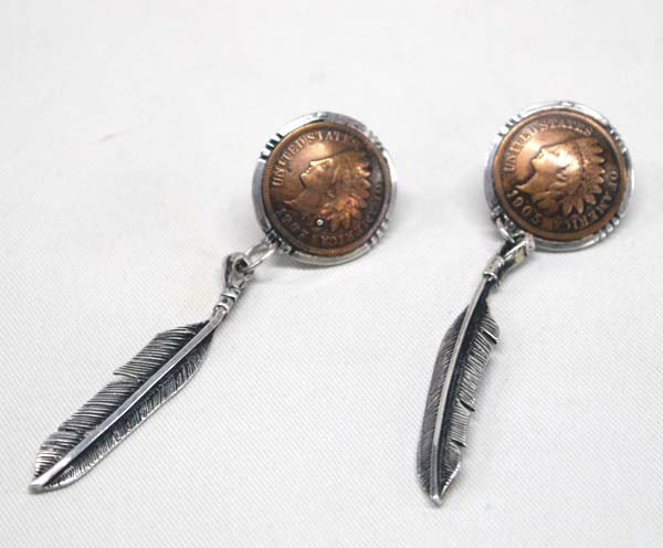 1905 & 1907 Copper Indian Head Penny Earrings