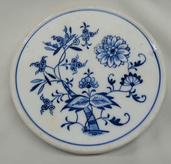 Antique Meissen Cobalt Blue Trivet