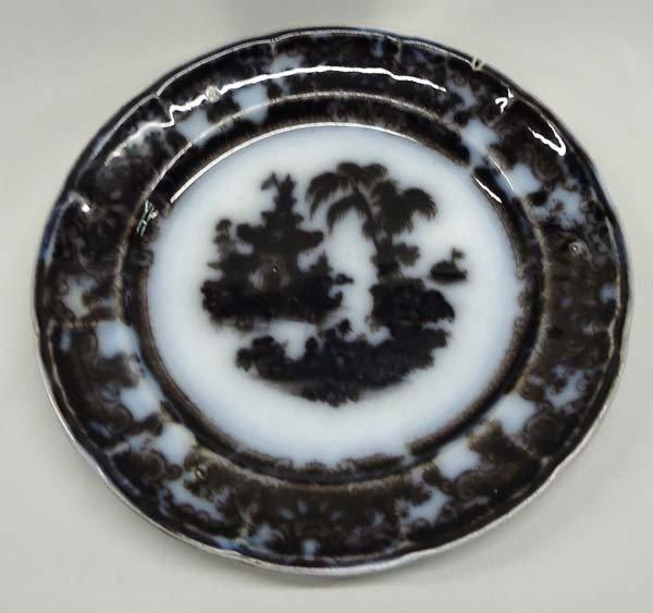 Antique Flow Blue Corean PW & Co Plate