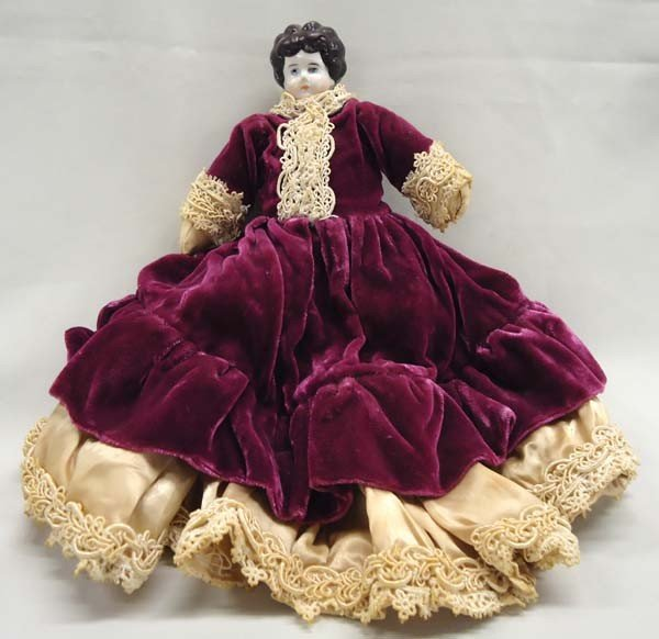 Antique Victorian Cloth Doll With China Head