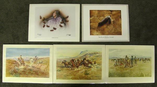 Five Prints, 3 CM Russell, 1 Redbird, 1 Howell