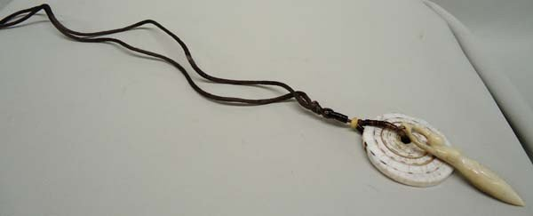 Shell Goddess Necklace On Silk Cord