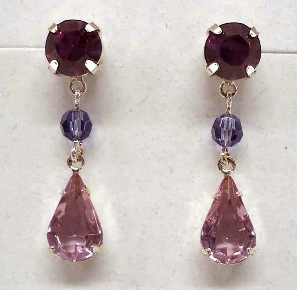 Silver Garnet Gemstone Pierced Earrings