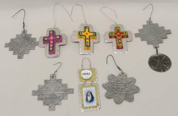 8 1990s Tin Christmas Ornaments