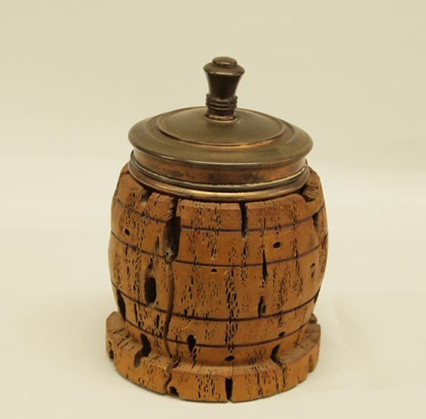 Vintage Cholla Cactus Trinket Box With Copper Lid