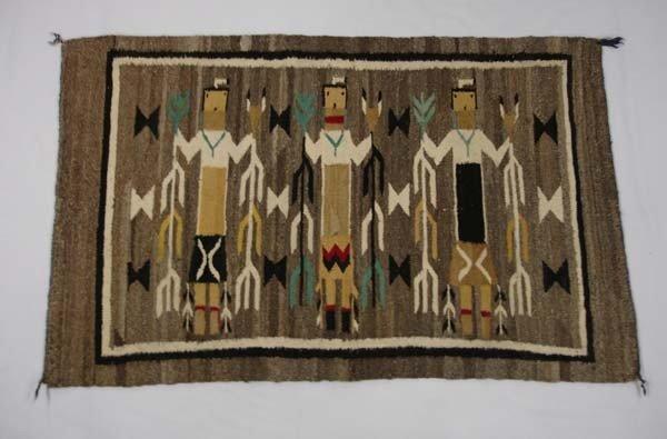 1950 Navajo Yei Weaving Rug