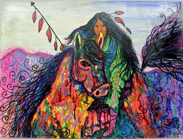 Original Painting by Kills Thunder
