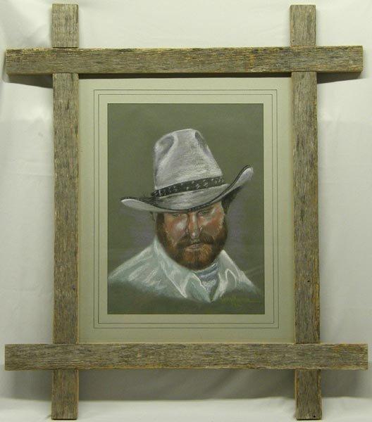 1962 Framed Original Pastel on Paper by Montoya