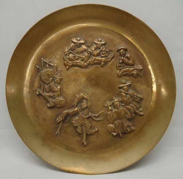 Brass Korean Plate Cast Musicians & Dancer
