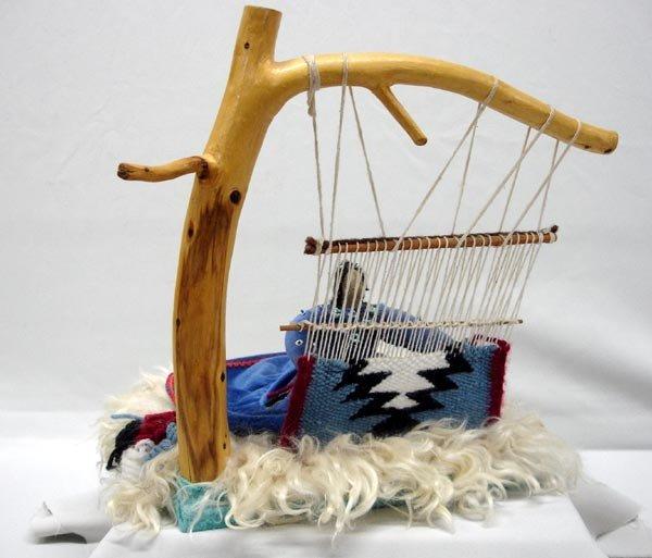 Navajo Weaver Doll and Loom