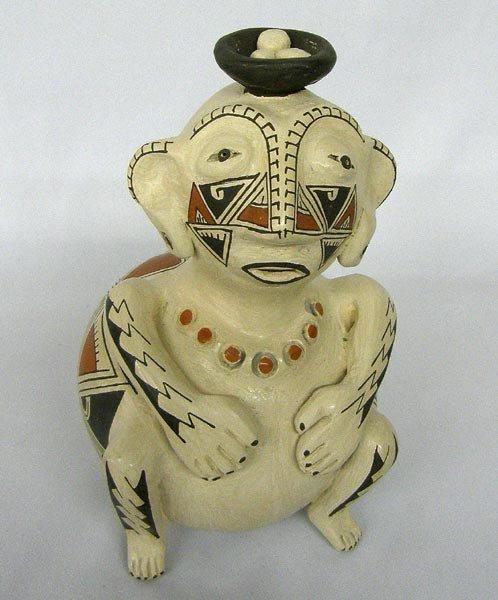 Mata Ortiz Figural Pot by Armando Rodriguez