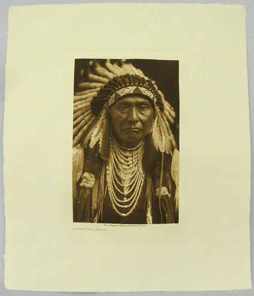 Numbered Edward Curtis Print, Joseph Nez Perce