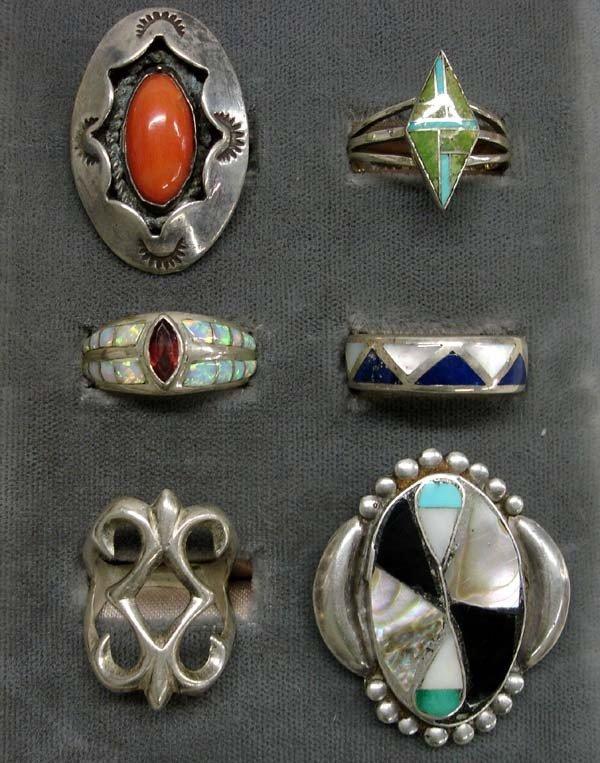 Native American Zuni & Navajo Silver Rings