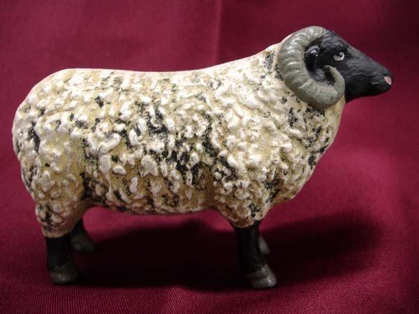 Antique Cast Iron Sheep Bank