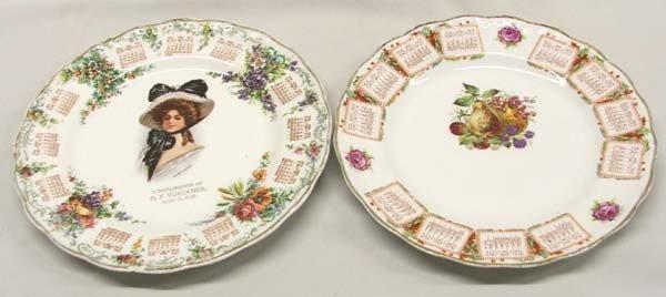 2-1910 Collector Advertising Calendar Plates