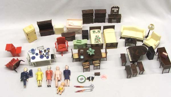 Collection Of ''Renwal'' Dolls Furniture Plus