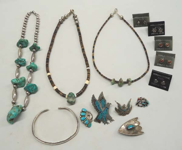 Native American Navajo Silver Turquoise Jewelry