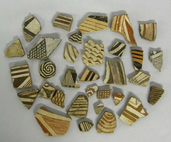 Collection of Native American Pot Sherds