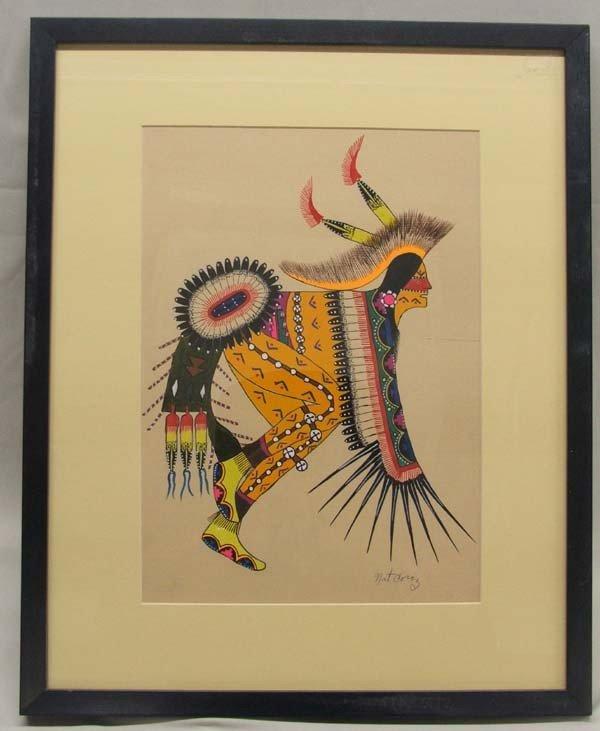 Original Native American Tesuque Painting by  Coriz