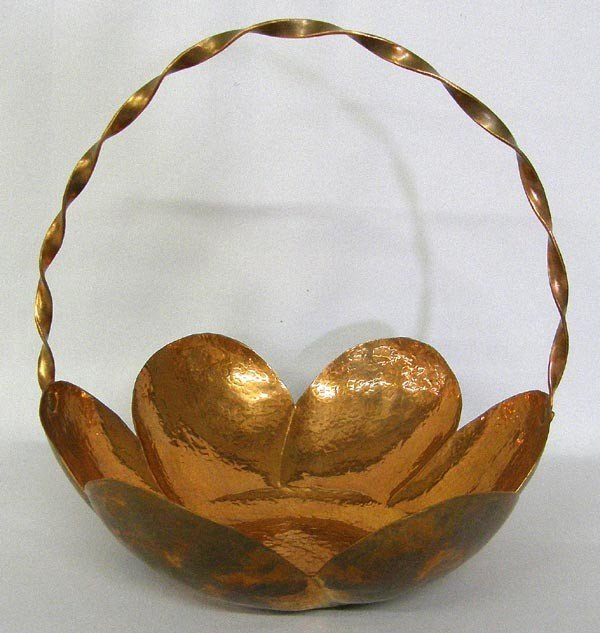 Hammered Copper Basket